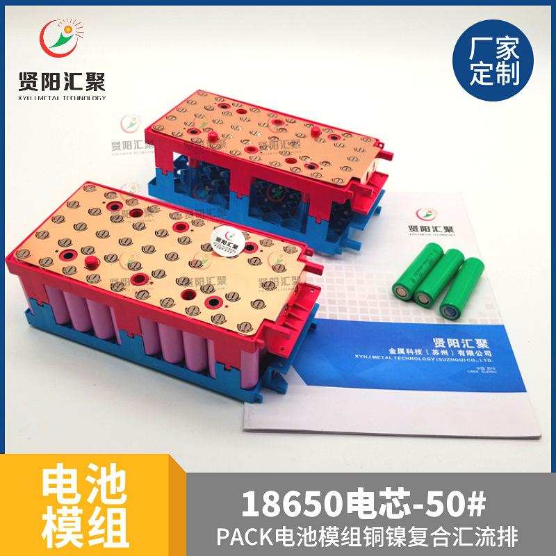 电池模组厂家生产支架汇流排38并50并120并动力电池储能电池卡模方案设计