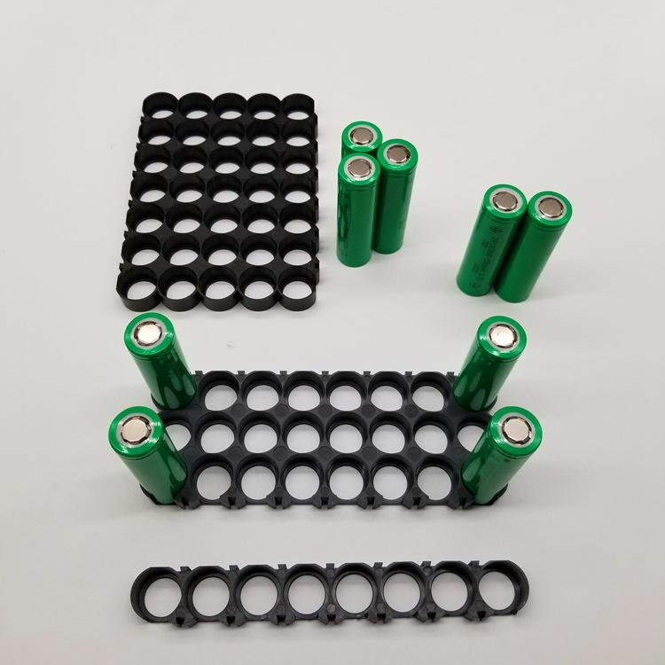 电池支架厂家18650电池支架8*1,8*3,8*5,8并24并40并汽车专用阻燃环保支架