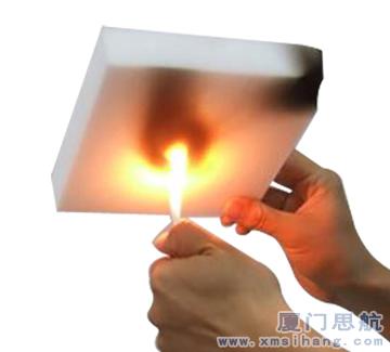 蜜胺泡沫塑料在燃烧时结焦而不会产生流滴,离火自熄,是非常好的新型防火材料