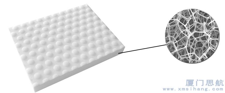 纳米海绵具有极高的开孔率特征