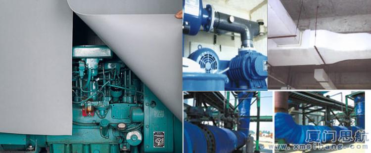 纳米海绵消音板在建筑装饰、交通车辆、水上船舶、航空航天、机电设备、工业吸音和保温等领域中使用