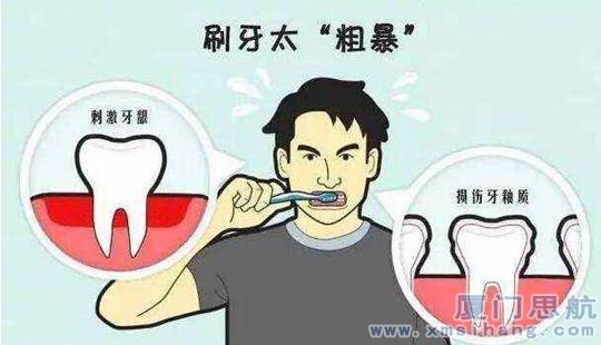 刷牙太粗暴 容易弄伤牙龈
