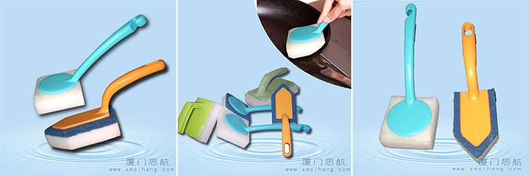 洗锅用什么刷子好 美纳米海绵厨房清洁洗锅刷厂家直销批发