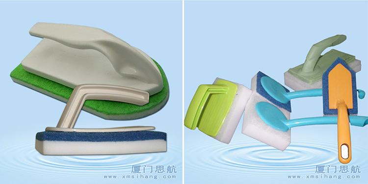 高密度纳米海绵擦源头厂家 科技泡绵复合百洁布刷子-快速清洁地板浴缸污渍