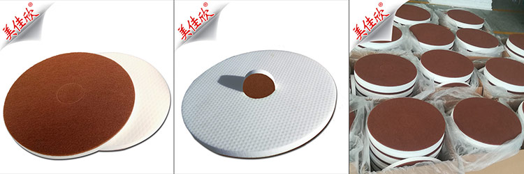 厦门思航压缩蜜胺海绵复合百洁布打磨盘纳米圆盘垫 纳米打磨圆盘厂家直销