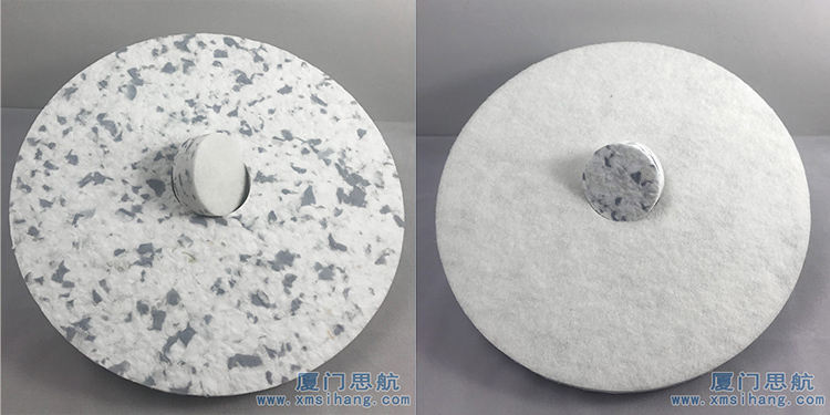 xmsihang胶合绵复合起毛布新型密胺圆盘 厦门思航 清洁抛光海绵片  百洁垫地面保养清洁