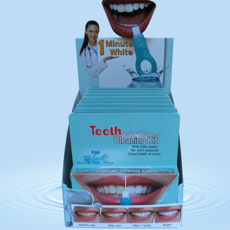 Lady use Magic Teeth Cleaning Kit