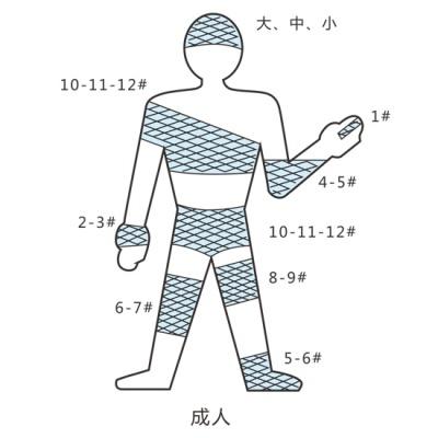 网状弹力绷带、弹力网帽