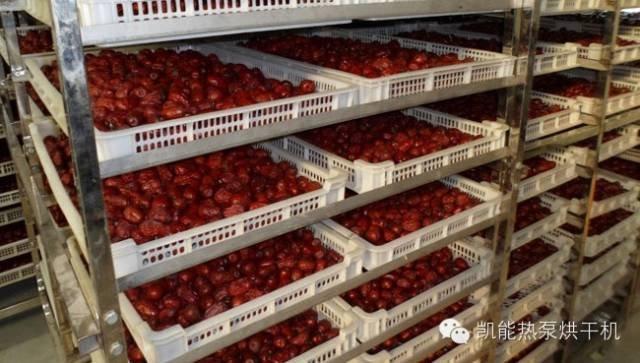 空气能烘干除湿机在烘干红枣的应用