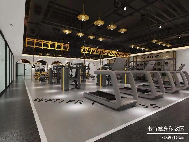 8.28韦特健身俱乐部 | 卷材PVC胶地板工程案例
