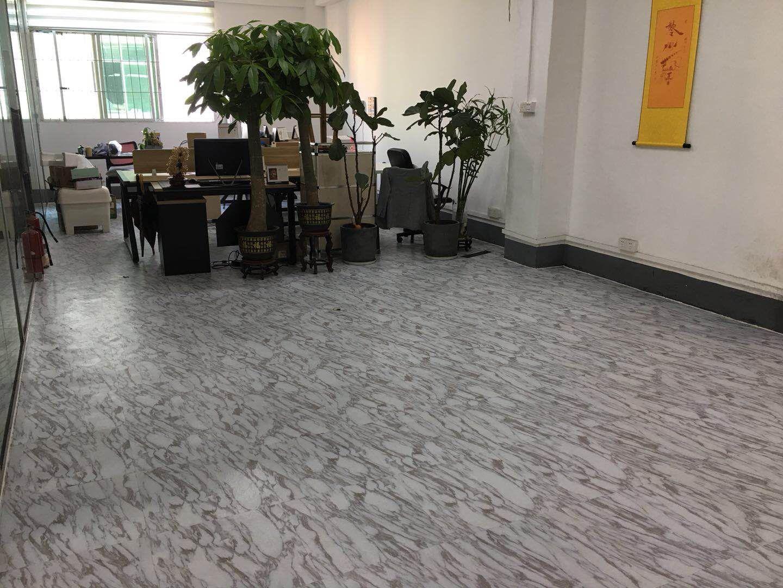 7-28白云金花工业园服装厂办公室PVC地板施工安装