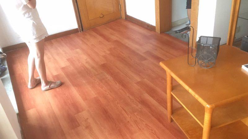 7-20广州番禺祈福新屯家庭地板安装 PVC地板装饰案例