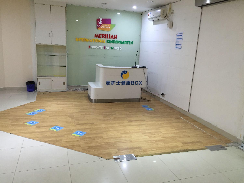 8-19天河猎德儿童教育培训机构 木纹PVC胶地板施工案例