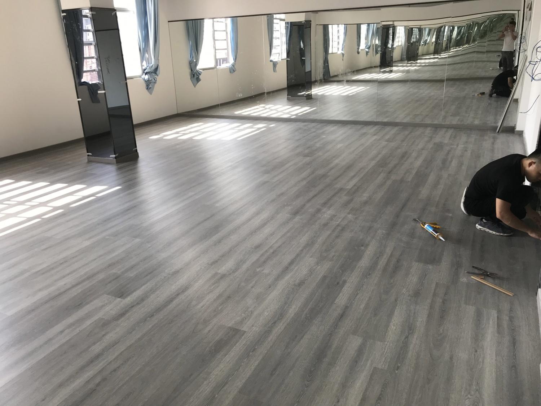 6.14中仁大厦舞蹈室 | SPC锁扣地板铺装案例
