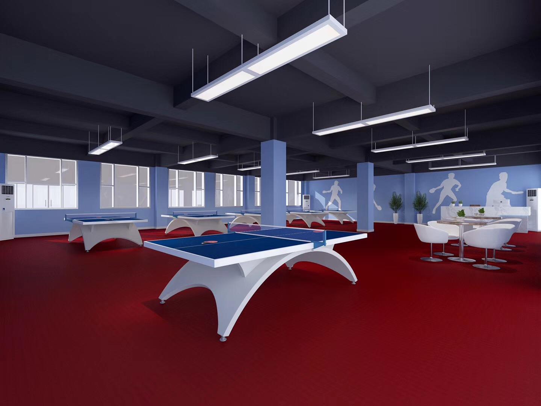 7.6卓勋乒乓球培训馆 | PVC运动地板铺装案例
