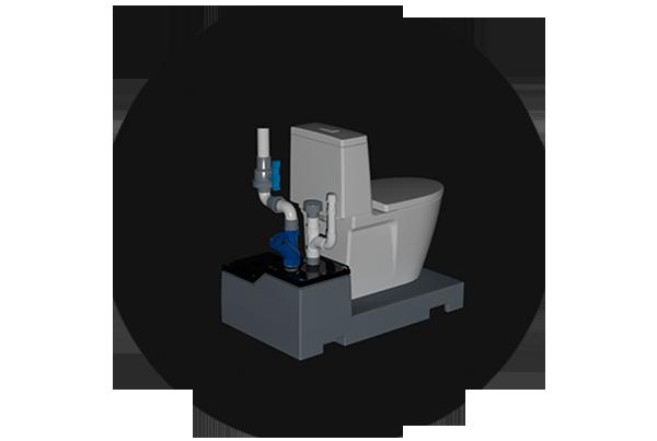 LowPro52LP下排式马桶污水提升装置