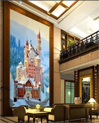 客厅背景墙 堡垒碉堡城堡建筑玄关