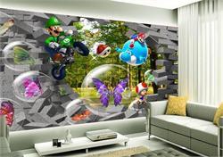 儿童背景墙 3D卡通背景墙