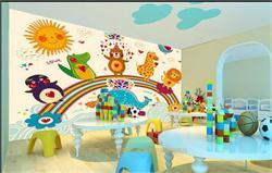 儿童彩雕背景墙  欢乐卡通儿童背景墙
