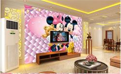 儿童电视背景墙 米奇客厅背景墙