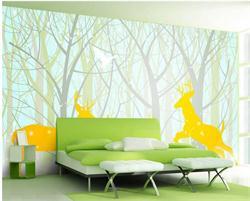 儿童沙发背景墙 儿童房间背景墙