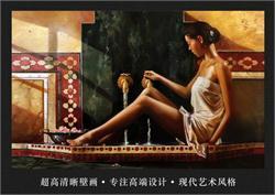 艺术背景墙 油画背景墙