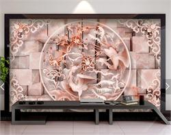 3D大理石浮雕电视背景墙