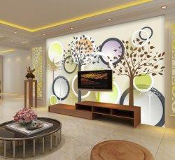 小清新3D立体花树电视电视背景墙2