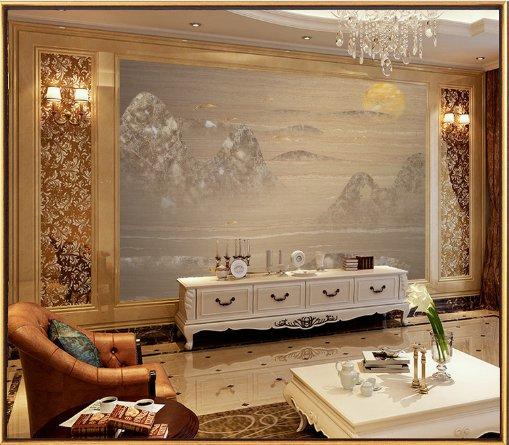 3d喜气洋洋大理石背景墙电视浪漫欧式玉雕