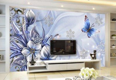 彩雕电视背景墙