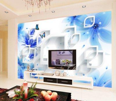 梦幻花背景墙 现代风格背景墙