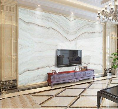 大理石背景墙 爵士白客厅背景墙