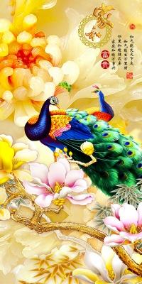 玉雕家和富贵孔雀