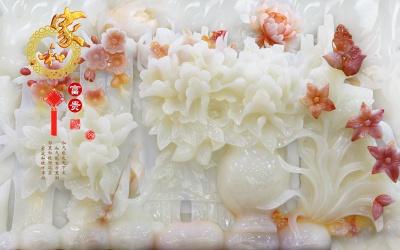 玉雕家和富贵梅花