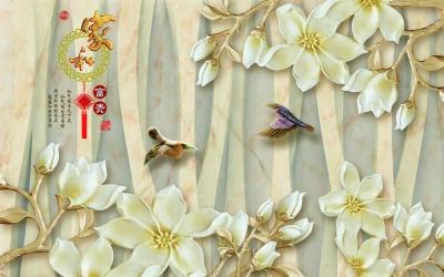 玉雕家和富贵玉兰鸟