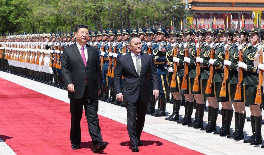 习近平同蒙古总统巴特图勒嘎举行会谈