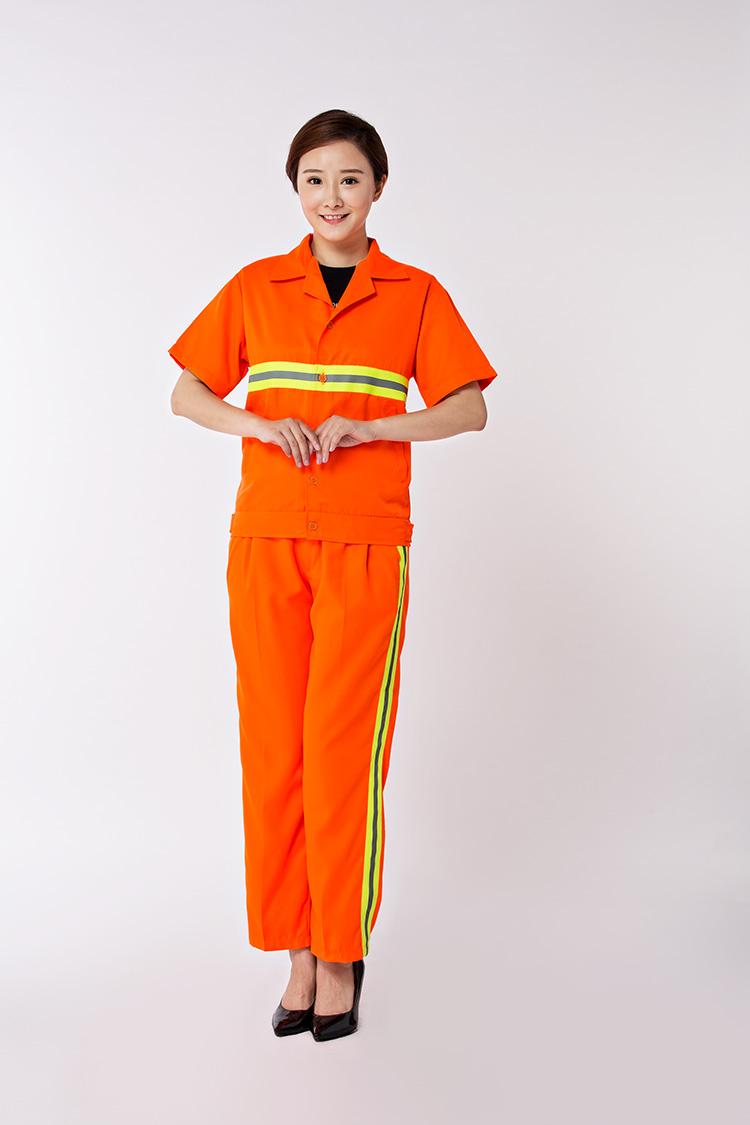 橙色夏季工作服