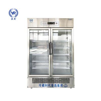 医然680L新款不锈钢无指纹医用冷藏柜阴凉柜