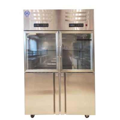 医然厨房不锈钢冷柜四门双温柜900L