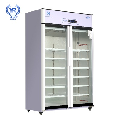 醫然800L醫用冷藏柜疫苗柜雙門立式陰涼柜藥品儲存柜