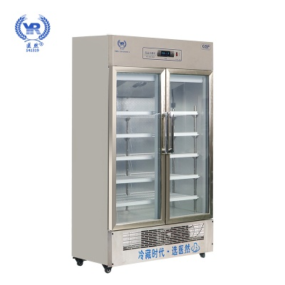 醫然680L新款不銹鋼無指紋醫用冷藏柜陰涼柜