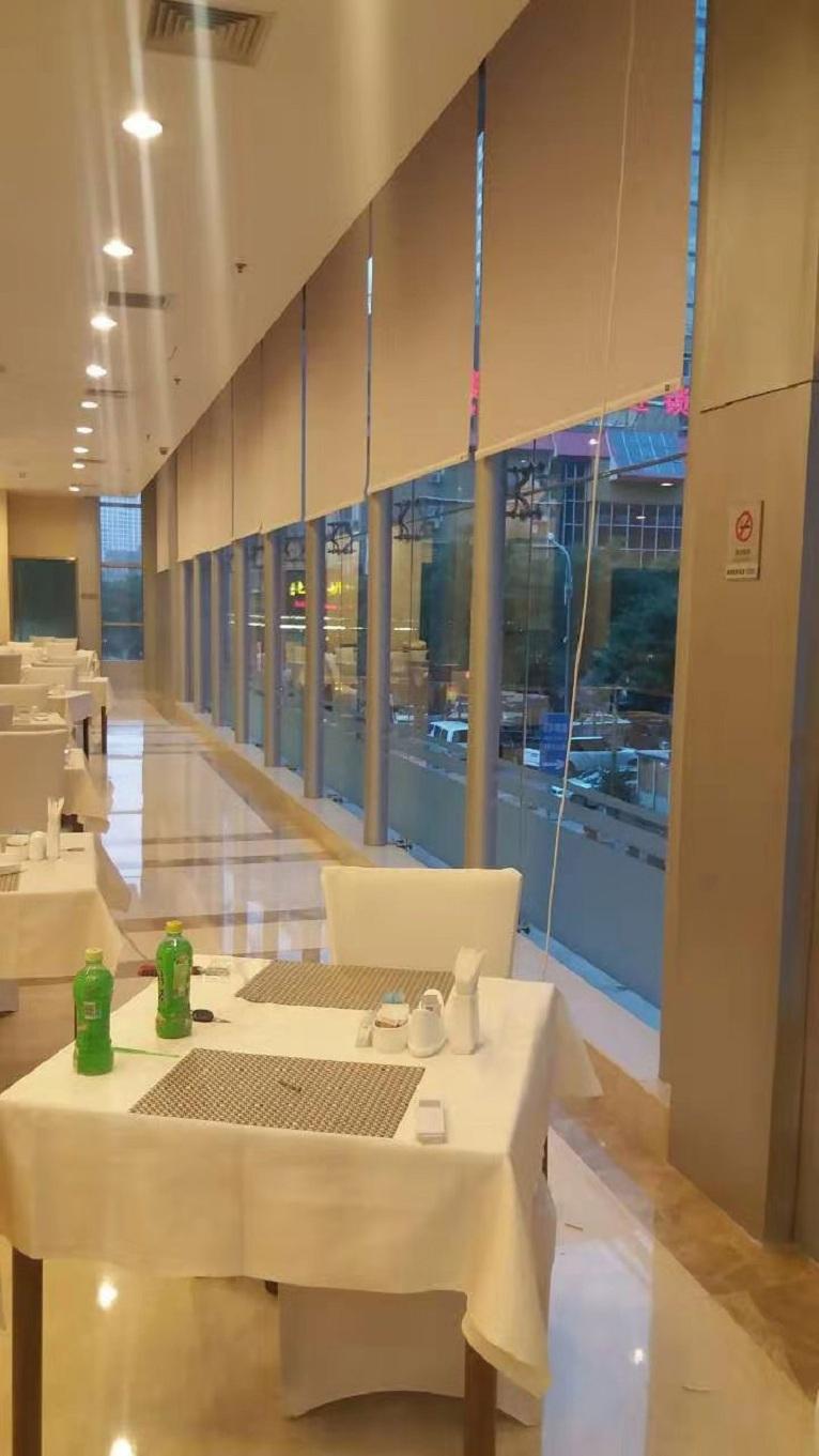 卷帘窗帘美式花鸟遮阳升降卫生间厨房浴室厕所办公室卷拉式