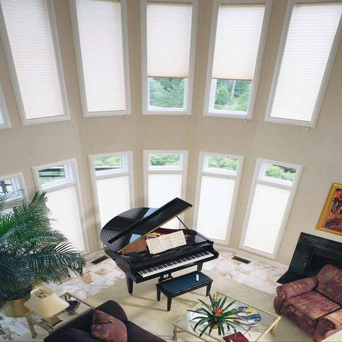 阳光房遮阳顶帘蜂巢帘天棚帘遮阳帘遮光隔热防晒棚天窗