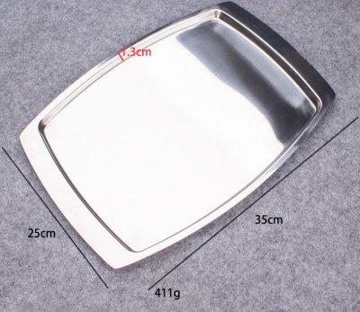 銹鋼方盤長方形平底沖孔托盤蒸飯盤