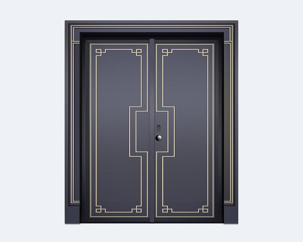 韵美精雕装甲门
