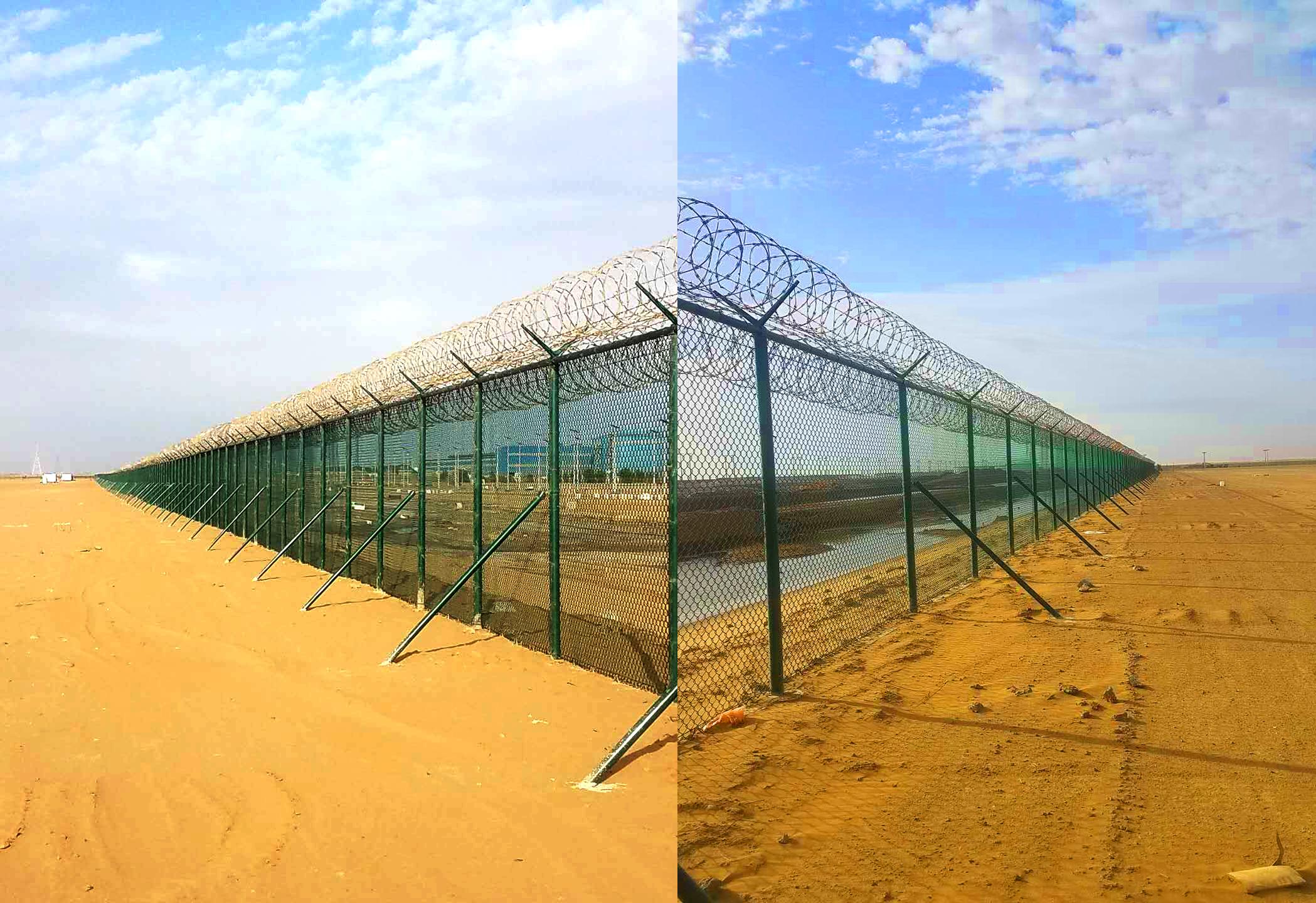 沙特项目现场永久性围栏已全面竣工