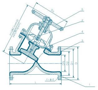 直流式襯膠隔膜閥 G45J