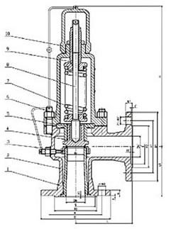 彈簧微啟封閉式安全閥 A41H