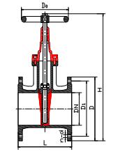 (國標、德標)彈性密封、橡膠密封暗桿閘閥 Z45X型