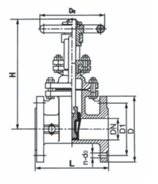 彈性座密封、橡膠密封明桿楔式閘閥 Z41X